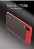 Eiroo Cam Hybrid Huawei P20 Kamera Korumalı Kırmızı Kenarlı Rubber Kılıf - Resim 8