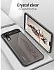 Eiroo Cam Hybrid Huawei P20 Kamera Korumalı Siyah Kenarlı Rubber Kılıf - Resim 1