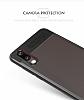 Eiroo Cam Hybrid Huawei P20 Kamera Korumalı Kırmızı Kenarlı Rubber Kılıf - Resim 4