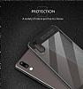 Eiroo Cam Hybrid Huawei P20 Kamera Korumalı Siyah Kenarlı Rubber Kılıf - Resim 5