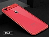 Eiroo Cam Hybrid iPhone 6 Plus / 6S Plus Kamera Korumalı Lacivert Kenarlı Rubber Kılıf - Resim 2