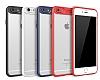 Eiroo Cam Hybrid iPhone 7 Kamera Korumalı Lacivert Kenarlı Rubber Kılıf - Resim 4