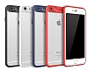 Eiroo iPhone 7 Plus /8 Plus Kamera Korumalı Kırmızı Kenarlı Rubber Kılıf - Resim 1