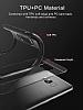 Eiroo Cam Hybrid Samsung Grand Prime Pro J250F Kamera Korumalı Kırmızı Kenarlı Rubber Kılıf - Resim 2