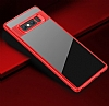 Eiroo Cam Hybrid Samsung Galaxy Note 8 Kamera Korumalı Kırmızı Kenarlı Rubber Kılıf - Resim 1