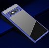 Eiroo Cam Hybrid Samsung Galaxy Note 8 Kamera Korumalı Lacivert Kenarlı Rubber Kılıf - Resim 1