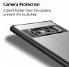 Eiroo Cam Hybrid Samsung Galaxy Note 8 Kamera Korumalı Siyah Kenarlı Rubber Kılıf - Resim 3