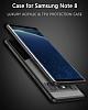Eiroo Cam Hybrid Samsung Galaxy Note 8 Kamera Korumalı Siyah Kenarlı Rubber Kılıf - Resim 7