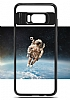 Eiroo Cam Hybrid Samsung Galaxy S8 Kamera Korumalı Lacivert Kenarlı Rubber Kılıf - Resim 6