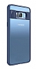 Eiroo Cam Hybrid Samsung Galaxy S8 Kamera Korumalı Lacivert Kenarlı Rubber Kılıf - Resim 11