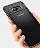 Eiroo Cam Hybrid Samsung Galaxy S8 Kamera Korumalı Siyah Kenarlı Rubber Kılıf - Resim 1