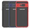 Eiroo Cam Hybrid Samsung Galaxy S8 Plus Kamera Korumalı Lacivert Kenarlı Rubber Kılıf - Resim 10