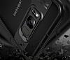 Eiroo Cam Hybrid Samsung Galaxy S8 Plus Kamera Korumalı Lacivert Kenarlı Rubber Kılıf - Resim 8