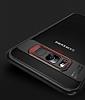 Eiroo Cam Hybrid Samsung Galaxy S8 Plus Kamera Korumalı Lacivert Kenarlı Rubber Kılıf - Resim 1