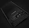 Eiroo Cam Hybrid Samsung Galaxy S8 Plus Kamera Korumalı Lacivert Kenarlı Rubber Kılıf - Resim 4