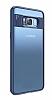 Eiroo Cam Hybrid Samsung Galaxy S8 Plus Kamera Korumalı Lacivert Kenarlı Rubber Kılıf - Resim 11
