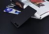 Eiroo Carbon Hybrid Sony Xperia XZ Premium Siyah Kenarlı Karbon Siyah Silikon Kılıf - Resim 1