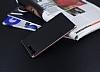 Eiroo Carbon Hybrid Sony Xperia XZ Premium Rose Gold Kenarlı Karbon Siyah Silikon Kılıf - Resim 2