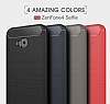 Eiroo Carbon Shield Asus ZenFone 4 Selfie ZD553KL Ultra Koruma Lacivert Kılıf - Resim 10