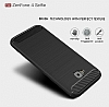 Eiroo Carbon Shield Asus ZenFone 4 Selfie ZD553KL Ultra Koruma Siyah Kılıf - Resim 3