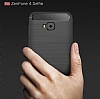 Eiroo Carbon Shield Asus ZenFone 4 Selfie ZD553KL Ultra Koruma Lacivert Kılıf - Resim 9