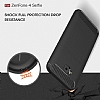 Eiroo Carbon Shield Asus ZenFone 4 Selfie ZD553KL Ultra Koruma Siyah Kılıf - Resim 7