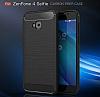 Eiroo Carbon Shield Asus ZenFone 4 Selfie ZD553KL Ultra Koruma Lacivert Kılıf - Resim 8