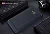 Eiroo Carbon Shield Asus ZenFone 4 Selfie ZD553KL Ultra Koruma Lacivert Kılıf - Resim 1