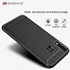 Eiroo Carbon Shield Asus ZenFone 5 ZE620KL Ultra Koruma Gri Kılıf - Resim 1
