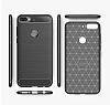 Eiroo Carbon Shield HTC Desire 12 Plus Ultra Koruma Dark Silver Kılıf - Resim 4
