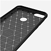 Eiroo Carbon Shield HTC Desire 12 Plus Ultra Koruma Dark Silver Kılıf - Resim 1