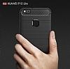 Eiroo Carbon Shield Huawei P10 Lite Ultra Koruma Dark Silver Kılıf - Resim 3