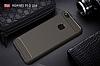 Eiroo Carbon Shield Huawei P10 Lite Ultra Koruma Dark Silver Kılıf - Resim 7