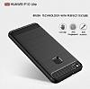 Eiroo Carbon Shield Huawei P10 Lite Ultra Koruma Dark Silver Kılıf - Resim 4