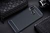 Eiroo Carbon Shield Huawei P20 Lite Ultra Koruma Lacivert Kılıf - Resim 6