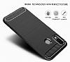 Eiroo Carbon Shield Huawei P20 Lite Ultra Koruma Dark Silver Kılıf - Resim 3
