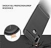 Eiroo Carbon Shield Huawei P20 Lite Ultra Koruma Dark Silver Kılıf - Resim 2