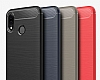 Eiroo Carbon Shield Huawei P20 Lite Ultra Koruma Dark Silver Kılıf - Resim 1