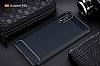 Eiroo Carbon Shield Huawei P20 Pro Ultra Koruma Lacivert Kılıf - Resim 8