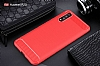 Eiroo Carbon Shield Huawei P20 Pro Ultra Koruma Kırmızı Kılıf - Resim 8