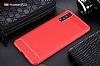 Eiroo Carbon Shield Huawei P20 Ultra Koruma Kırmızı Kılıf - Resim 8