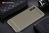 Eiroo Carbon Shield Huawei P20 Ultra Koruma Dark Silver Kılıf - Resim 8