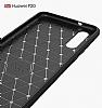 Eiroo Carbon Shield Huawei P20 Ultra Koruma Dark Silver Kılıf - Resim 6