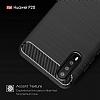 Eiroo Carbon Shield Huawei P20 Ultra Koruma Dark Silver Kılıf - Resim 4