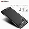 Eiroo Carbon Shield Huawei P20 Ultra Koruma Dark Silver Kılıf - Resim 2
