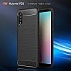 Eiroo Carbon Shield Huawei P20 Ultra Koruma Dark Silver Kılıf - Resim 5