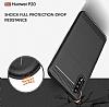 Eiroo Carbon Shield Huawei P20 Ultra Koruma Dark Silver Kılıf - Resim 1