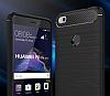 Eiroo Carbon Shield Huawei P9 Lite 2017 Ultra Koruma Lacivert Kılıf - Resim 3