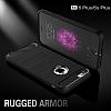 Eiroo Carbon Shield iPhone 6 Plus / 6S Plus Ultra Koruma Siyah Kılıf - Resim 5
