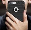Eiroo Carbon Shield iPhone 7 Plus Ultra Koruma Siyah Kılıf - Resim 4
